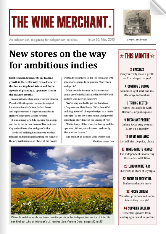 This story appears in the new edition of The Wine Merchant